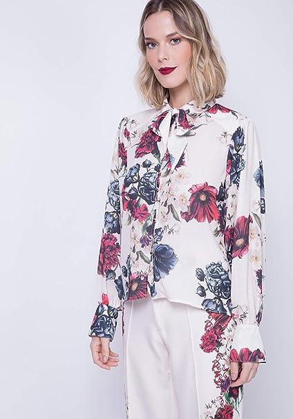 64f3800d5 Camisa Gola Laço Lança Perfume  Amazon.com.br  Amazon Moda