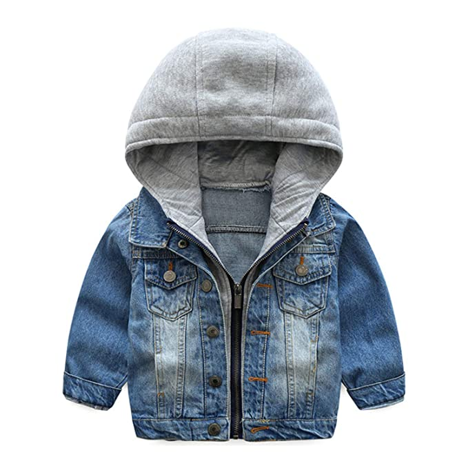 f376582cb Amazon.com  Keasmto Baby Girls Denim Coats Jackets for Boys Lapel ...