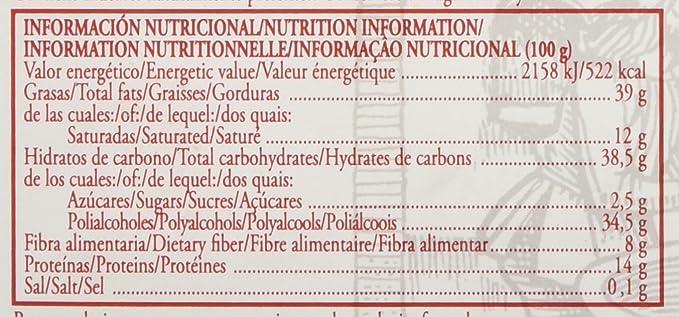 Virginias - Turrón chocolate con almendras sin azúcar, 185 gr.: Amazon.es: Amazon Pantry