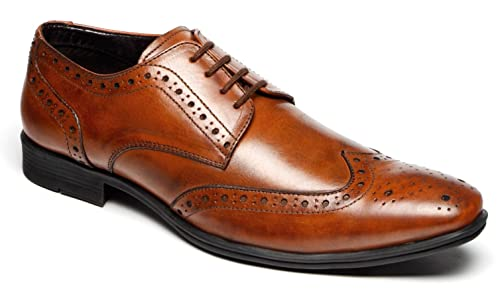Mens Shoe Brogue Oxford Lace Up Work Office Wedding Formal Shoes Size Uk 7-12
