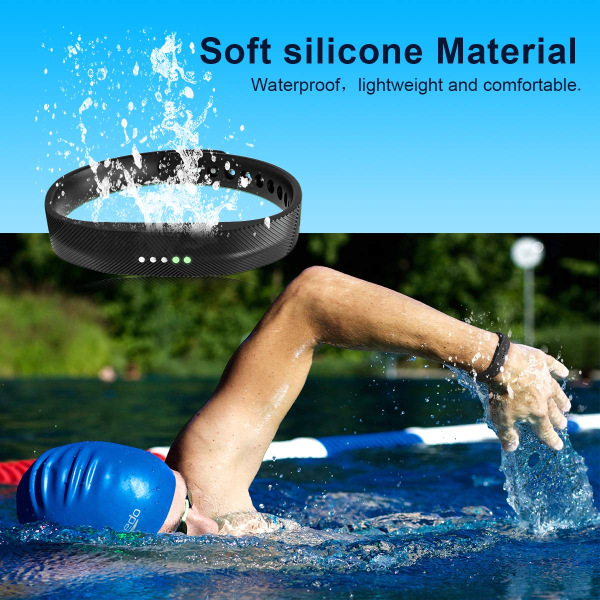 JOMOQ Compatible Flex 2 Bands Silicone Replacement Band for 2016 Flex 2 Sports Classic Fitness Replacement Accessories Wrist Band