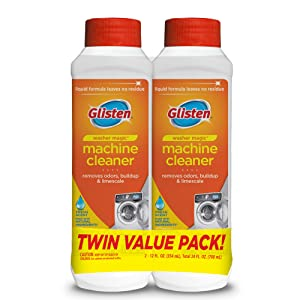 Glisten WMO612T WM03N-SS Washer Magic Washing Machine Cleaner & Deodorizer, 12 Fl. Oz. Bottle, 2 Pack, 24