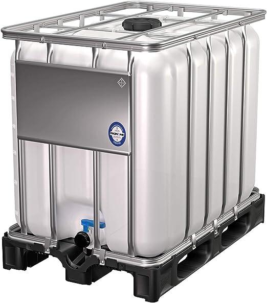 Werit Contenedor IBC de 600 l, depósito de Agua, Paleta de plástico: Amazon.es: Jardín