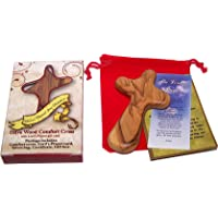 Holy Land Market Gift Package Includes Comfort Cross with Gift Box and Two certificates and Velvet Bag