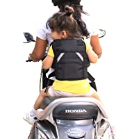 URBAN KINGS Kid's 2-Wheeler Front Standing and Sitting Behind Safety Seat Belt (Black)