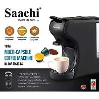 Saachi Coffee Pod/Capsule Coffee Machine, Black, NL-COF-7058-BK