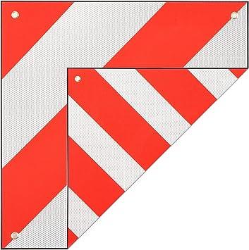 Maxcraft Warntafel Für Italien Und Spanien 50x50 Cm Aluminium Warnschild Reflektierend Rot Weiß Auto