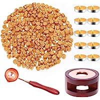Sealing Wax, Paxcoo 312pcs Sealing Wax Kit with Wax Seal Beads, Wax Seal Warmer, Wax Spoon and Tealight Candles for Wax…