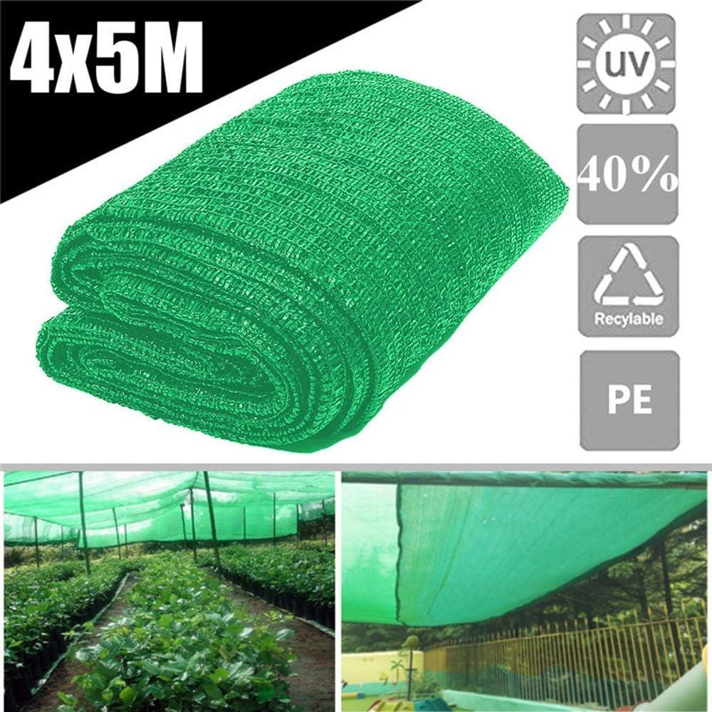 Wenhu 40% Protector Solar Tela de Sombra para la Cubierta de la Planta Greenhouse Barn Sombrilla Verde Cubierta Jardín Patio Huerto Accesorio 2 Pin Knit 12x16Ft