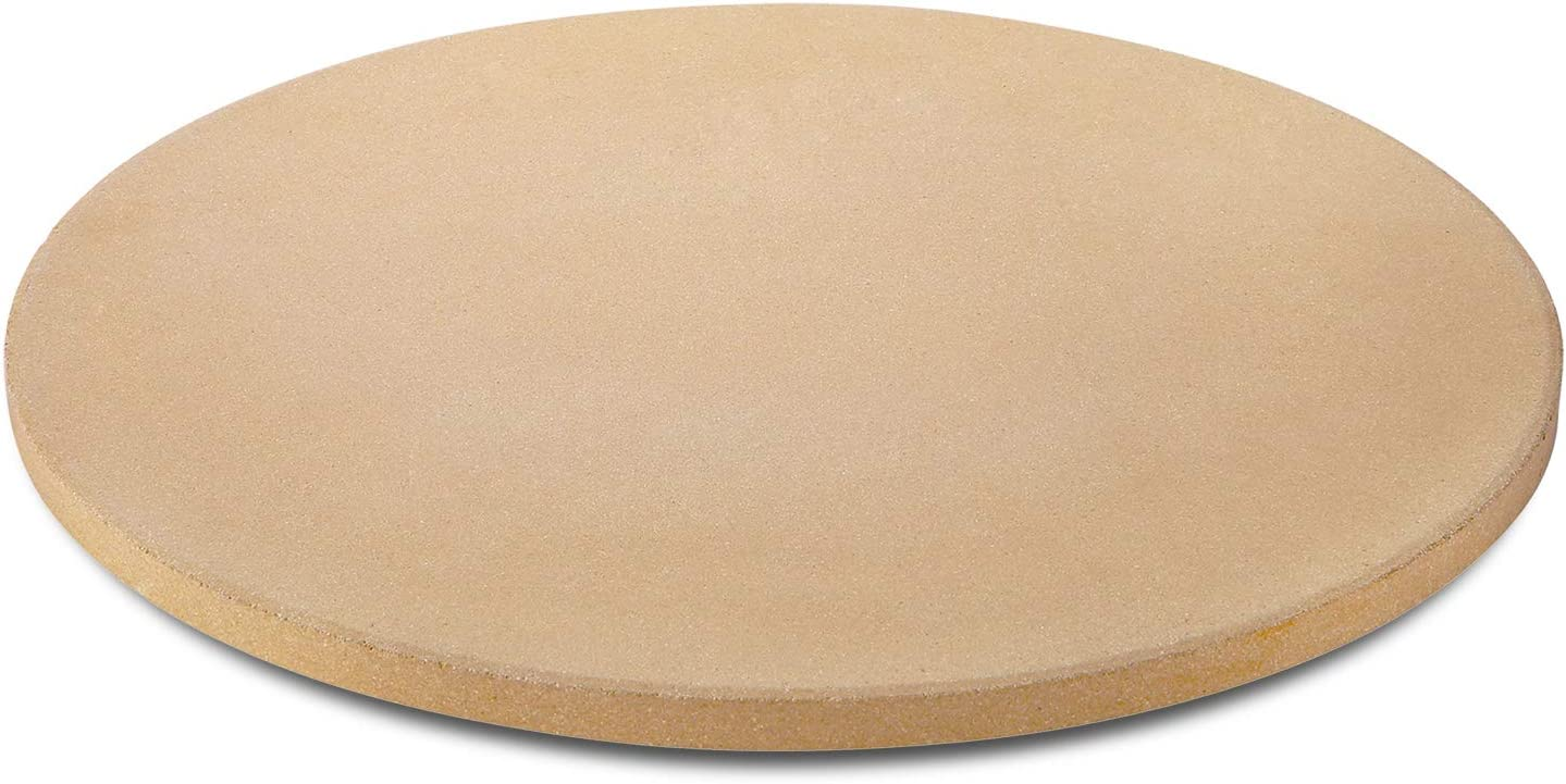 Unicook Pizza Stone for Grill and Oven, 15 Inch Round Ceramic Baking Stone