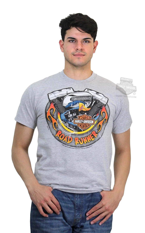 f8b55a3f Amazon.com: Harley-Davidson Mens WB Road Runner Screamin Eagle Grey T-Shirt:  Clothing