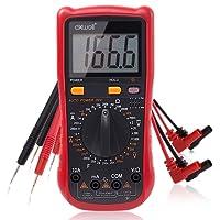 Exwell Profi Digital Multimeter, Widerstandsmessung, Spannungs- und Stromprüfer, Messgerät mit akustischer und optischer Rückmeldung
