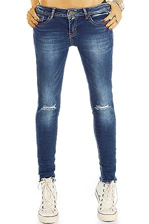 9e7694164aea bestyledberlin Damen Skinny Jeans, Enge Ripped Knee Röhrenjeans, Stone  Washed Denim Hose j38l