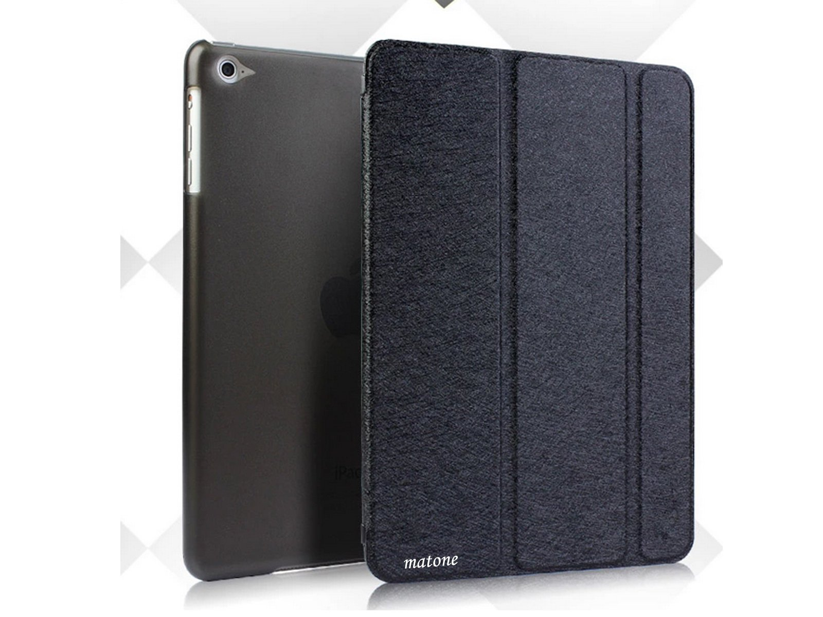 finest selection 9c267 e73b4 Matone Case For Apple iPad Air 2 Case Ultra-Thin Auto Sleep Or Wake Feature  Double Protection With Stents Functions For iPad 6 (Black, iPad 6)