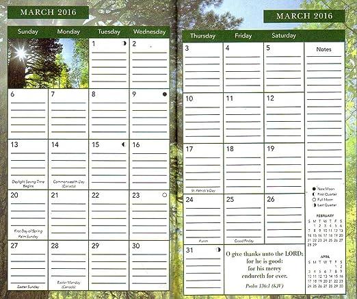 Psalms - 2016 - 2017 2 Year Monthly Planner - Calendar - Agenda - Appointment Book Organizer + Free Bonus 2016 Magnetic Calendar (Bundle - 2 Items)