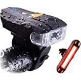 Actionale Mountain Flashlight Waterproof IPX-5, Rechargeable Bike Lights Front and Back, Tail Light Set Sensor 5 Modes…