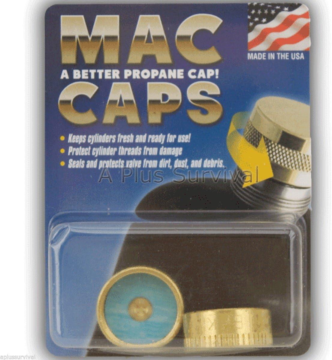 Propane Tank Mac Caps 1 lb Cylinder Seal Protect Save Stove Lantern Camping