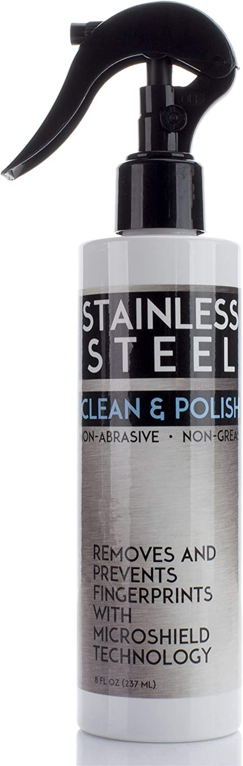 Stainless Steel Cleaner for Appliances. Cleans and polishes stainless steel and prevents finger smudges with Microshield technology. 8oz with sprayer.