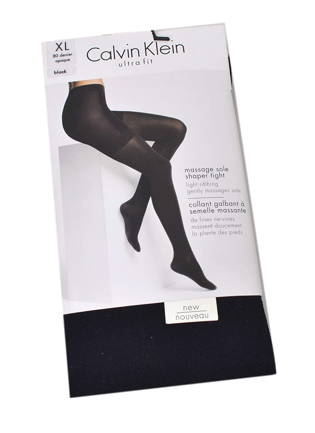 70ddffd0922bc Calvin Klein Ultra-Fit Massage-Sole Shaper Tights (XL): Amazon.co.uk:  Clothing