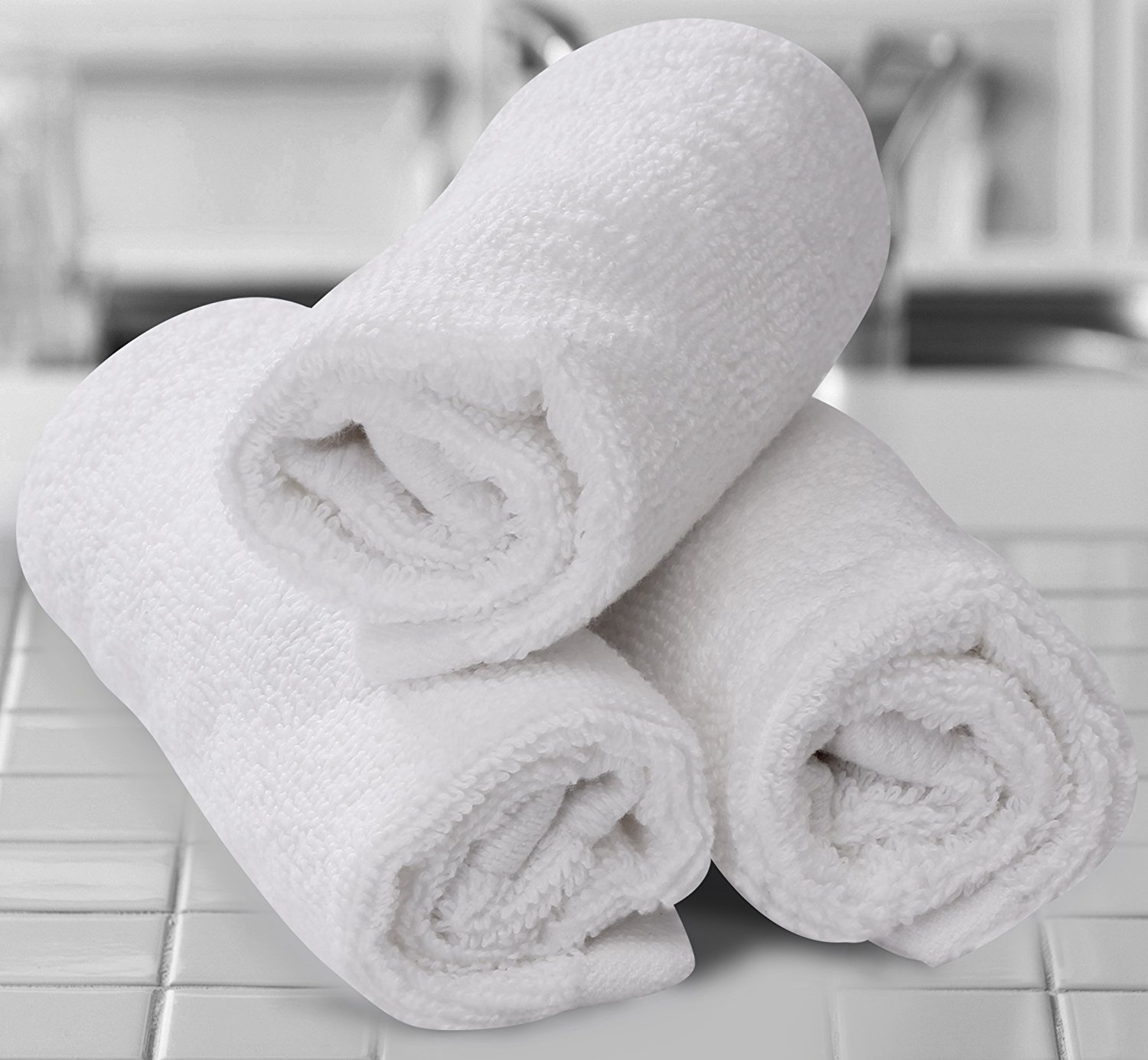 TowelPro Luxury Premium Soft 100% Cotton Highly Absorbent Machine Washable Multi-Purpose, Hotel, Spa, Home, Set of 2 Bath Mats 20'' X 34'' (White)