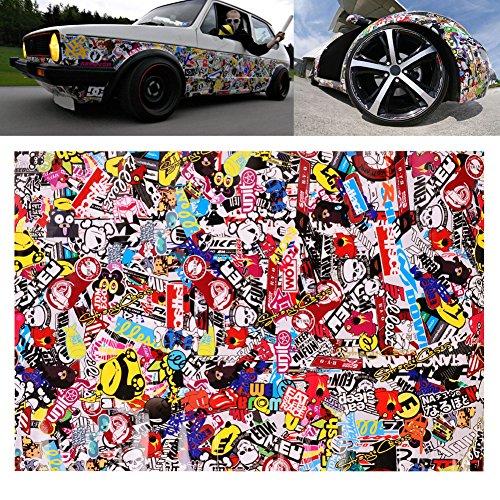 "Sedeta® 20""x30"" JDM Cool Graffiti Vinyl Car Auto Laptop Guitar Motorbike Bike Decor Bomb Decal Cartoon Sticker Decoration Sheet Waterproof"