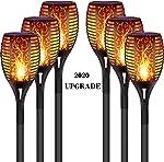 DIKAIDA 6PCs Solar Torch Lights, Upgrade Outdoor Tiki Light, 96 LED