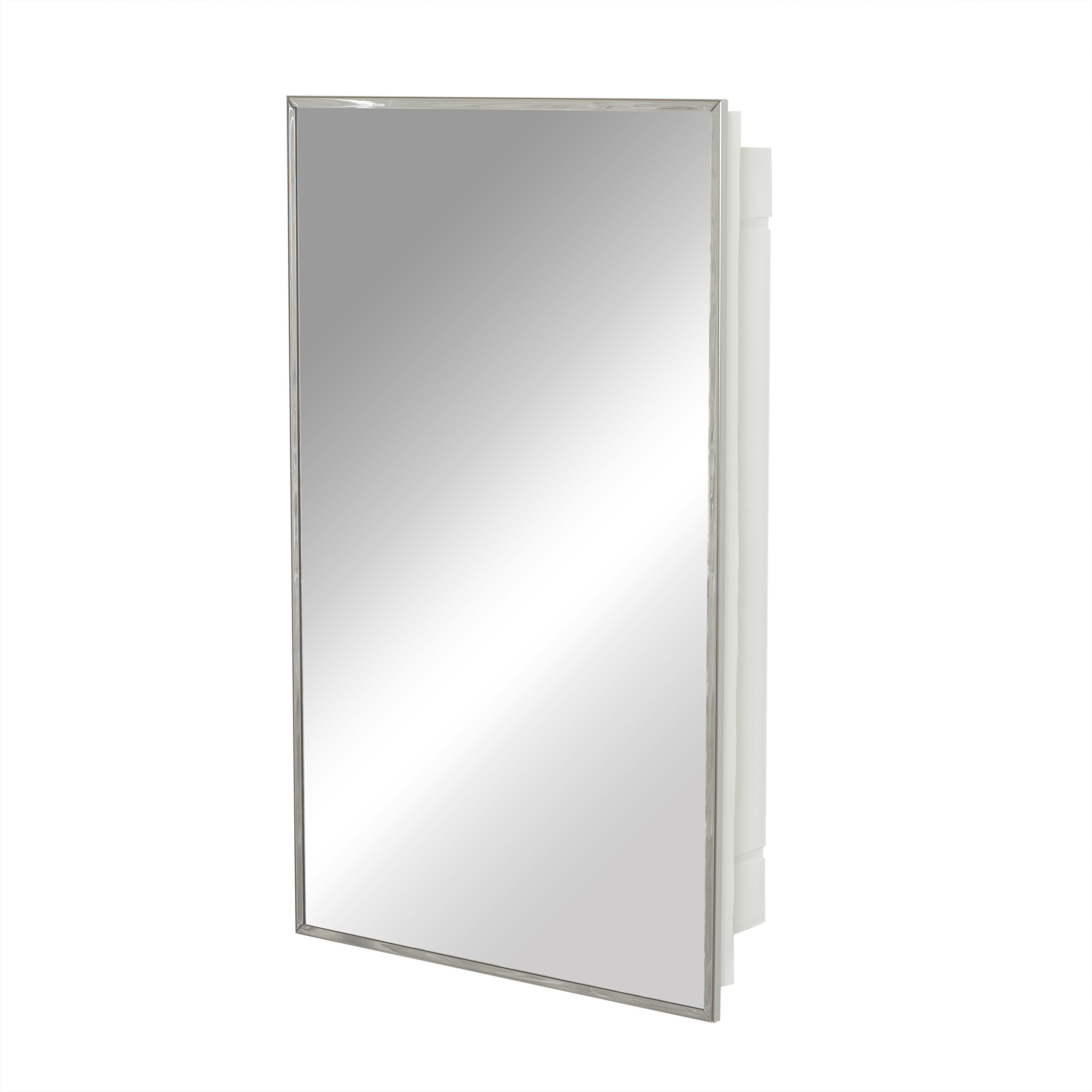 Zenith Products 105, Stainless Steel Framed Medicine Cabinet, 16 in x 26 in by ZPC Zenith Products Corporation