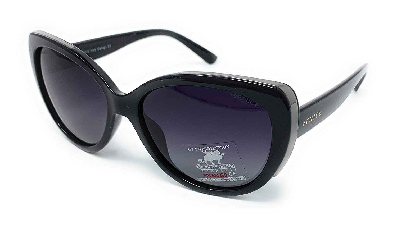Gafas de sol mujer polarizadas - VENICE 68165BK - Montura color negro, Cristales Polarizados, Color Negro. Moda 2019.