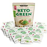Keto Green Protein Shake - Chocolate Ketogenic Protein Powder Drink, Lactose Free Vegan Protein, Supports Gastrointestinal He