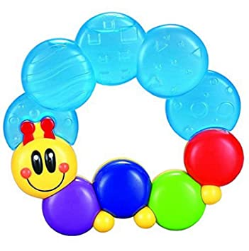 Shreeja Collections Best Sterilized Water-Filled Caterpillar Baby Teether Teething Rattle