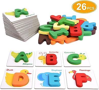 Amazon.com: XREXS - Tarjetas de alfabeto con flash, letras ...