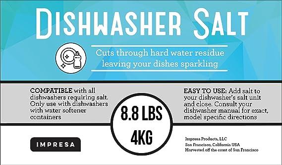 8,8 kg Lavavajillas Sal/de sal de descalcificador de agua ...