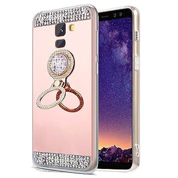 EINFFHO - Carcasa Samsung Galaxy J6 2018, Espejo Funda ...
