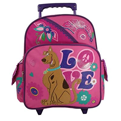 "Scooby Doo ""Peace & Love"" Toddler 12"" Rolling Backpack"