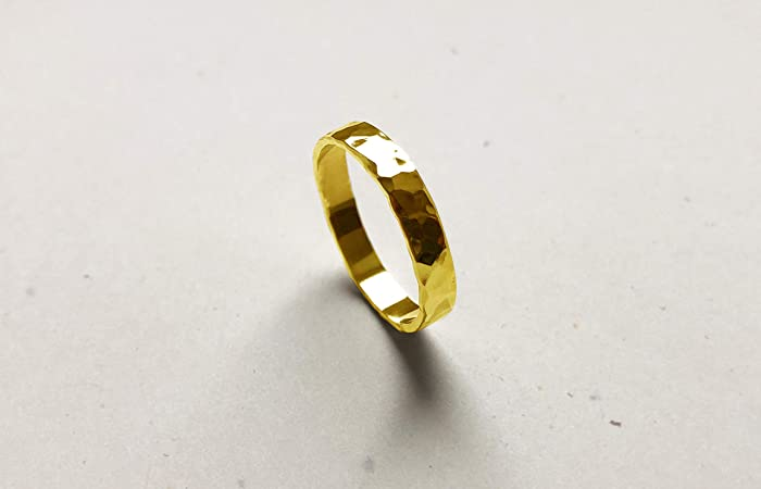4fdc65a7940bf Gold Ring | 18k Gold | Simple minimalist ring, Stack Ring, Band Ring ...