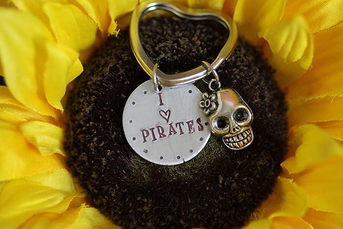 Amazon com: Little Girls Heart Keychain with Skull - I love