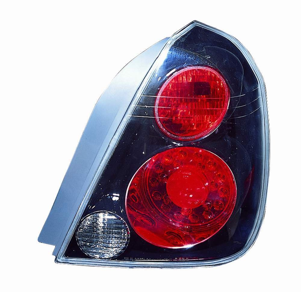 Depo 315-1938PXAS2R Nissan Altima Black LED Tail Light with Red//Red