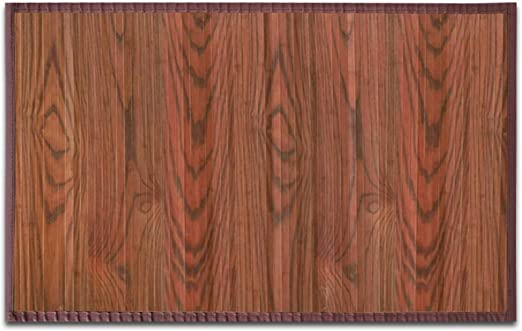 casa pura Tapis Cuisine Bambou hypoallergénique   Chambre, entrée, Salle à  Manger   Marron foncé Rose, 160x230cm