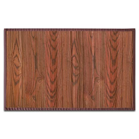 Casa Pura Tapis De Cuisine Bambou Hypoallergenique Salle De Bain Salon Corridor Marron Fonce Rose 150x200cm