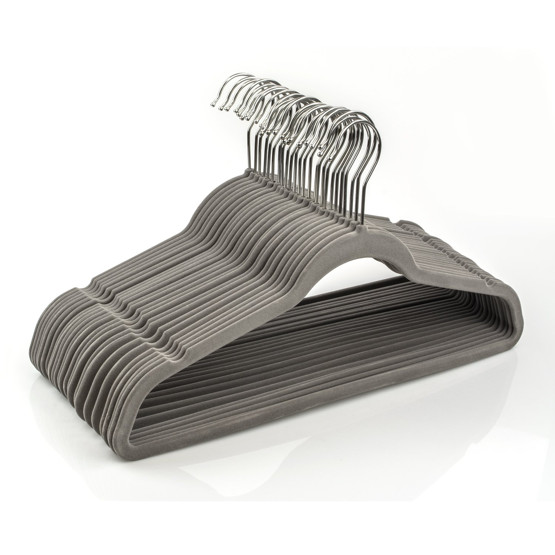 Shirts Flocked /& Durable for Garments Closet Space Saving Pants Dresses Coats Suits 25 Pack Michael Graves Design Ultra-Thin Non-Slip Velvet Clothing Hangers