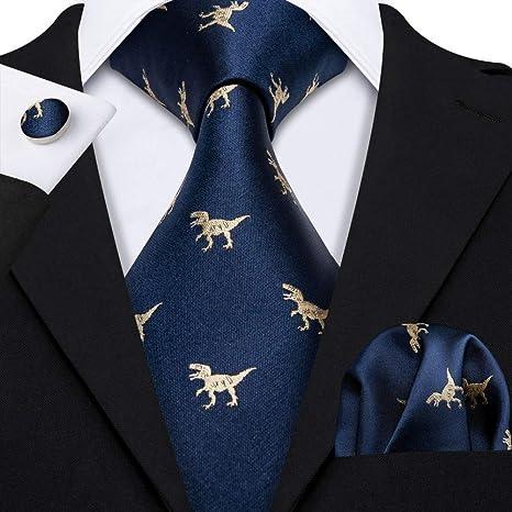 WOXHY Corbata de los Hombres Fahsion Gold Dinosaur Corbatas de ...