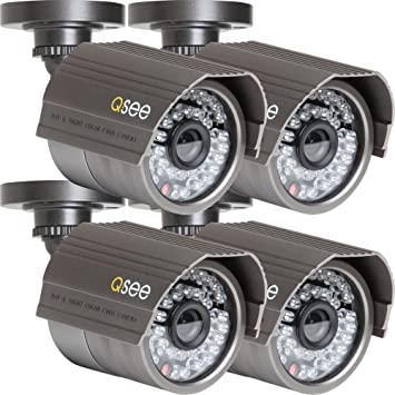 Q-See QM6008B 4-pack CCTV security camera Interior y exterior Bala Negro -