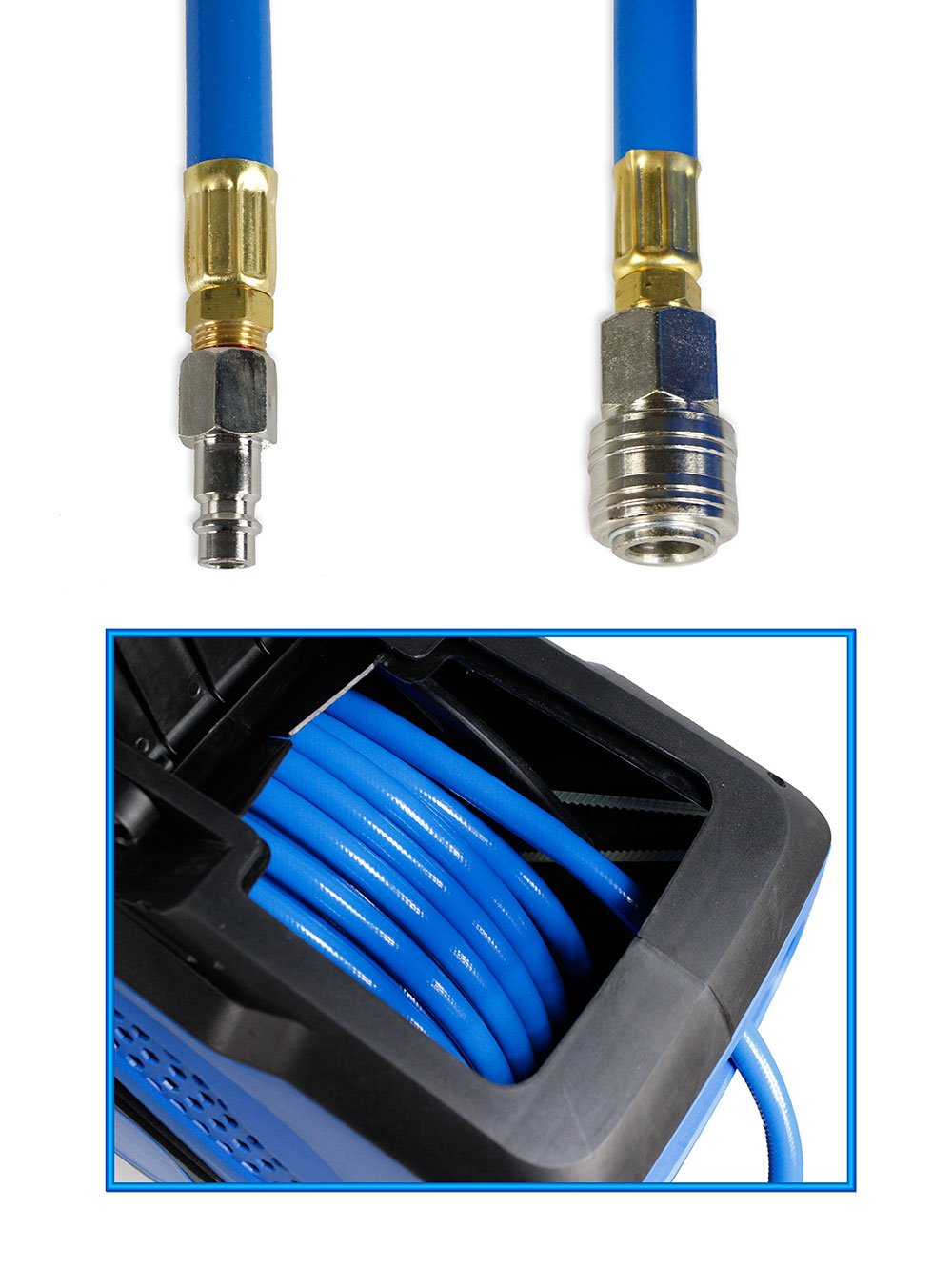 vetrineinrete® Automático Manguera De Aire Comprimido 20 m retráctil con cuaderno Bobina alargador para compresor Taller Mecánico neumáticos P44: Amazon.es: ...