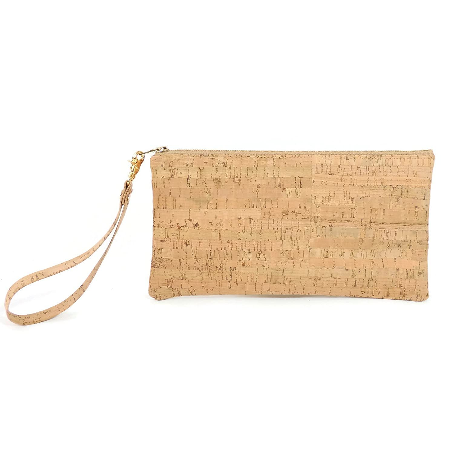 Vegan Wristlet Clutch in Cork Leather by Spicer Bags