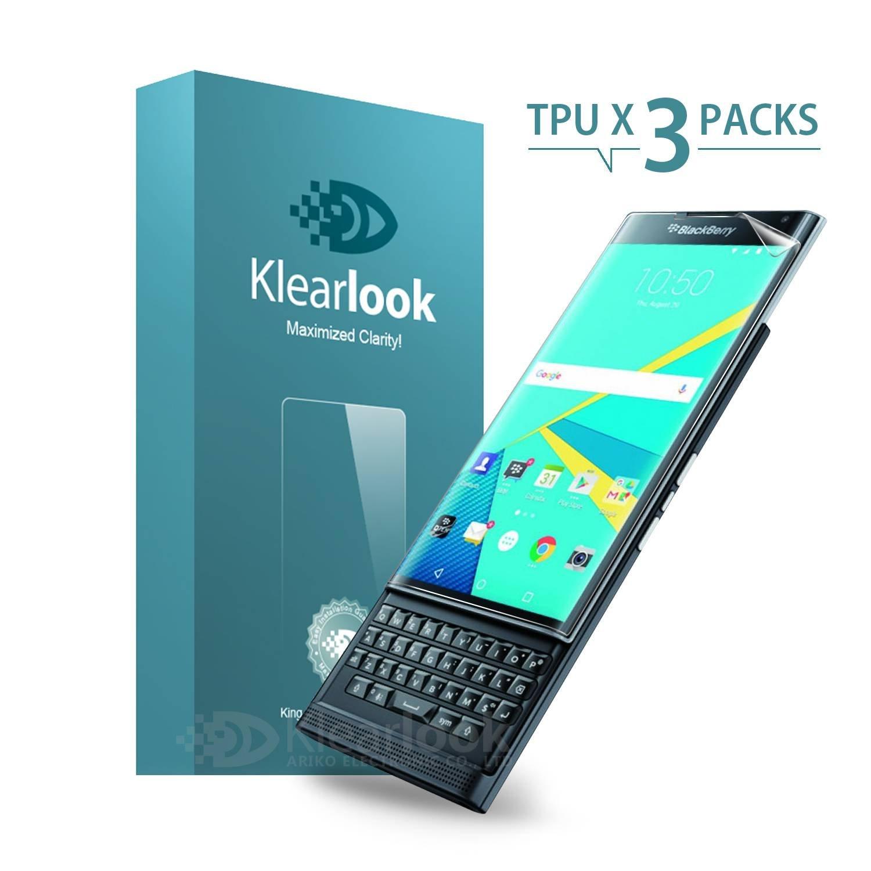 BlackBerry Privスクリーンプロテクター、Klearlook®[3パック]クリスタルクリアフルカバレッジスクリーンプロテクター - 高画質フィルム/湾曲カバレッジフルプロテクション/耐爆発性[ライフタイム保証]   B0192O50SQ