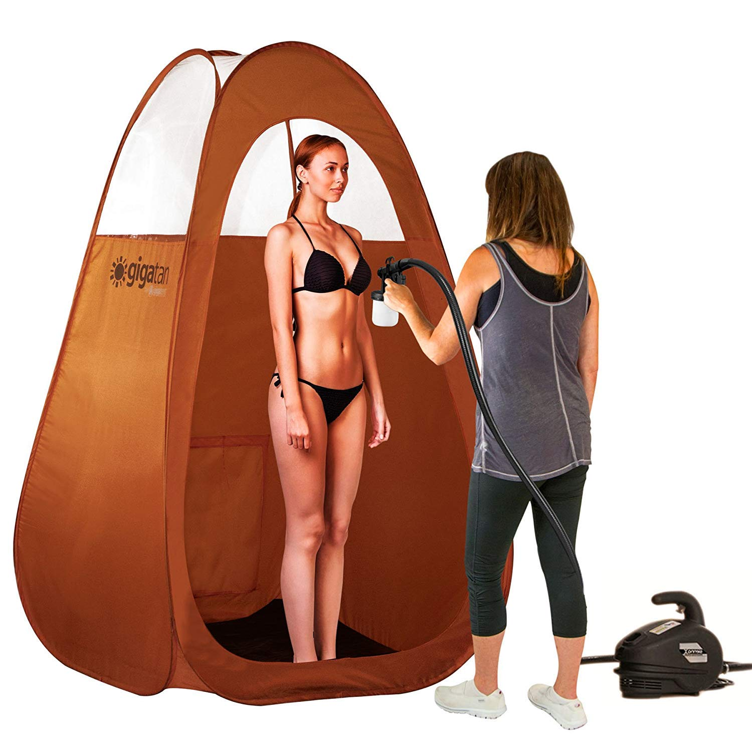 Gigatent Spray Tan Pop Up Tent -  Professional Sunless Tanning Pop-Up Spraying Booth for Airbrush Art, Makeup & Painting - 50'' x 37'', Folds Easily in 30 Seconds - with Carry Bag by GigaTent