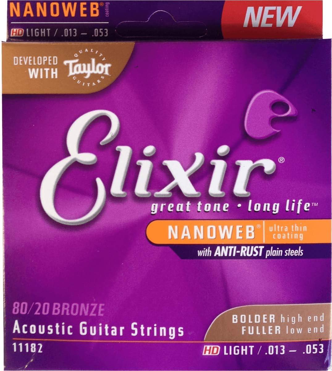 Elixir 11182 - Juego de cuerdas para guitarra acústica: Amazon.es: Instrumentos musicales