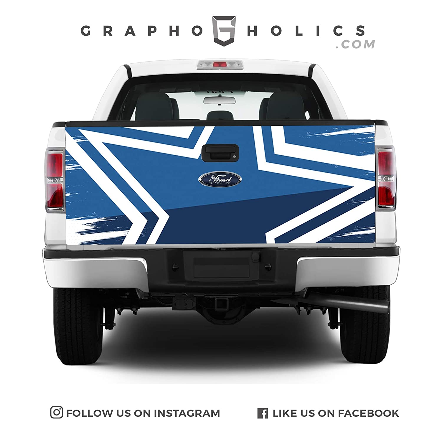 Pick-Up Truck Tailgate Wraps Police Theme