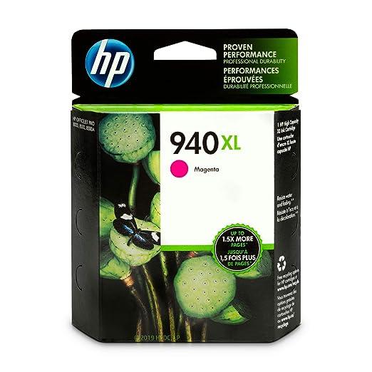 HP 940XL C4908AN#140 Ink Cartridge in Retail Packaging-Magenta Ink Cartridges at amazon