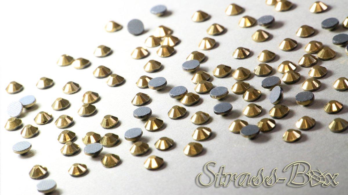 SS20 pieza n/úmero a elegir Strass Hotfix DMC Crystal dorado Oro Cristal Piedras 50 oro